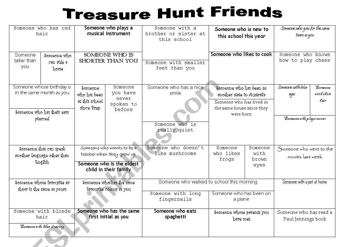 Treasure Hunt  worksheet
