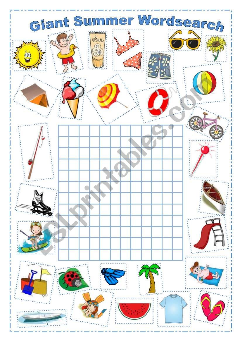 Do Your Own Summer Wordsearch worksheet