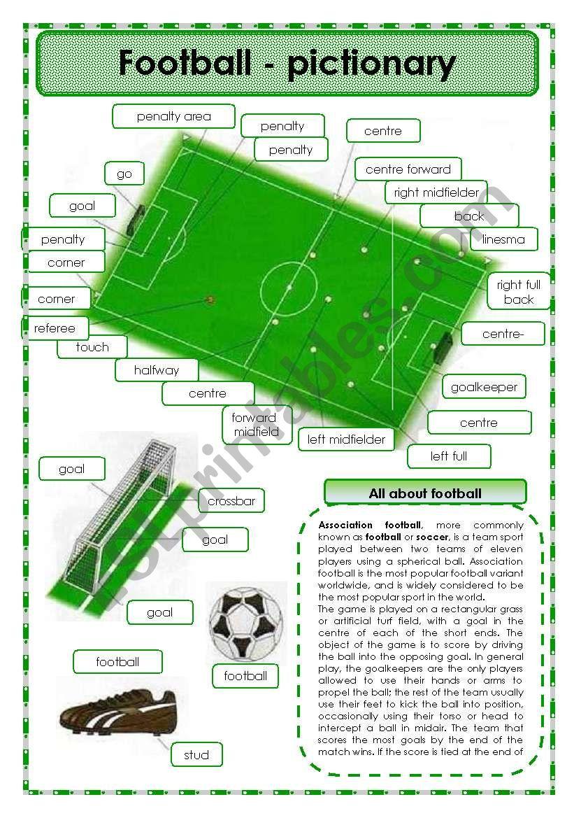 Football - pictionary worksheet