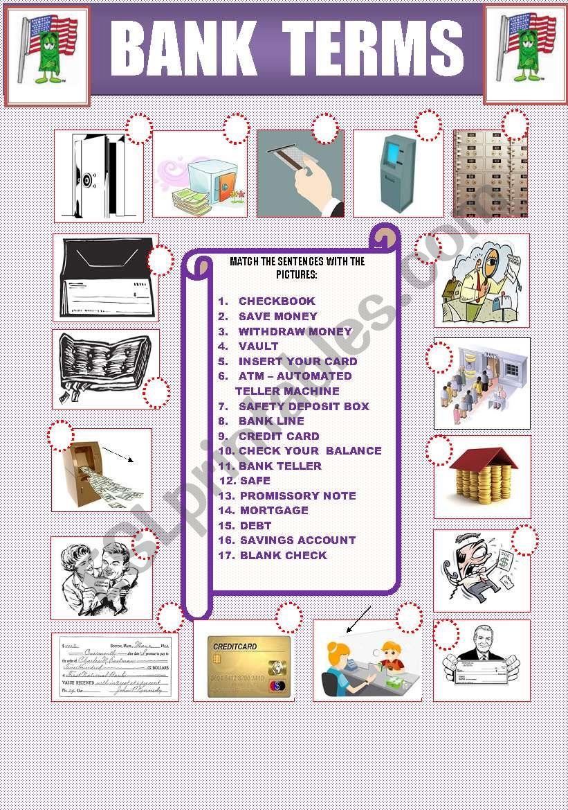 BANK TERMS  worksheet