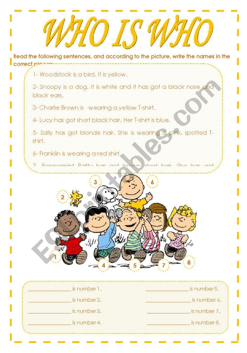 Who is who with Charlie Brown