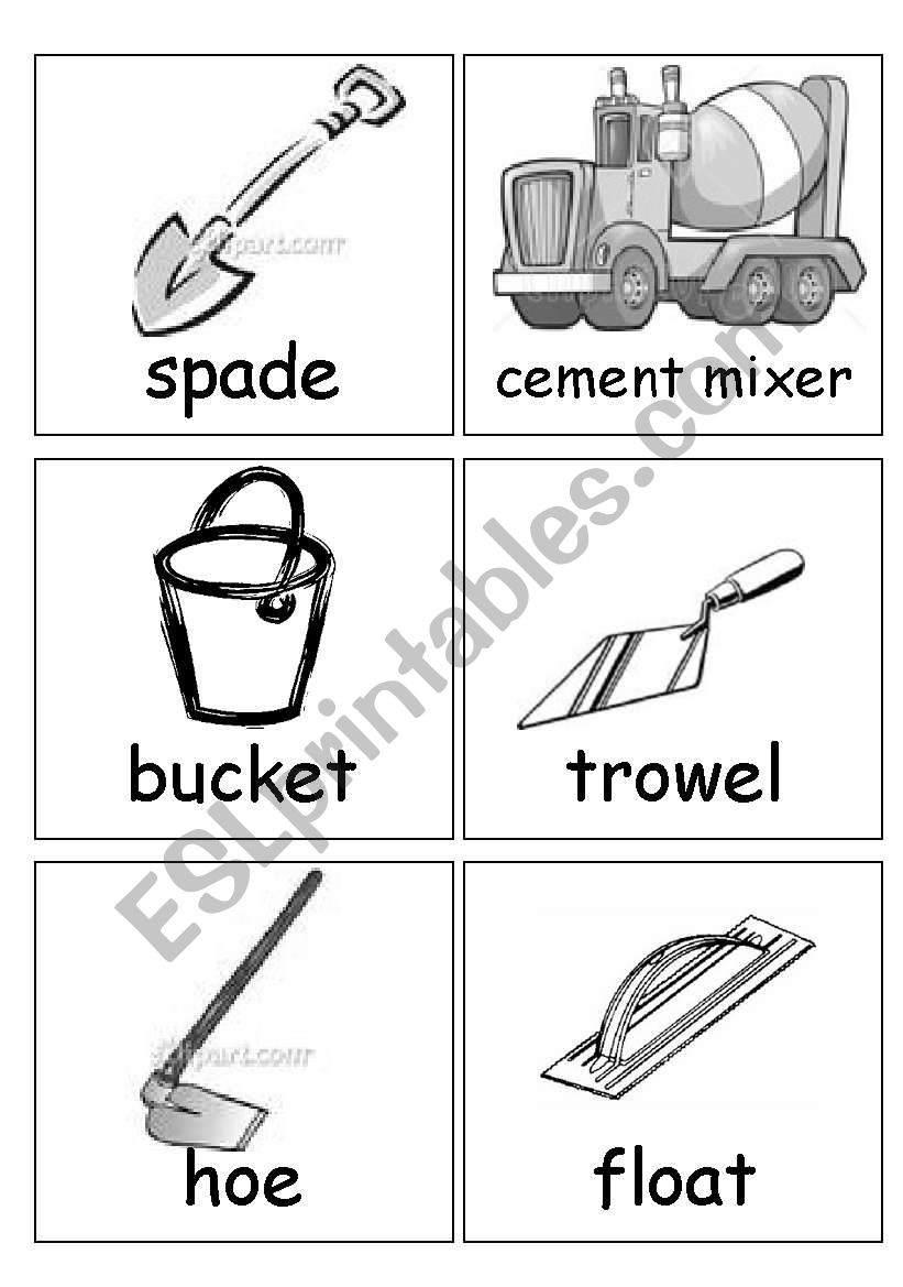 mason´s tools worksheet