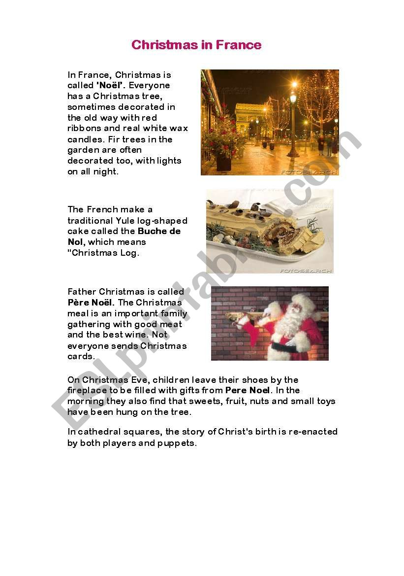 christmas aroud the world 1 - ESL worksheet by kasiagaj23