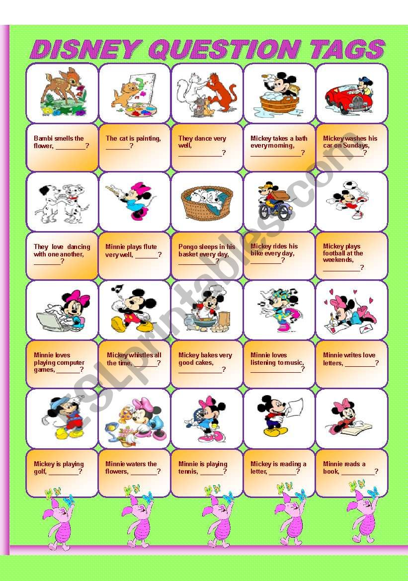 Disney Question Tags worksheet