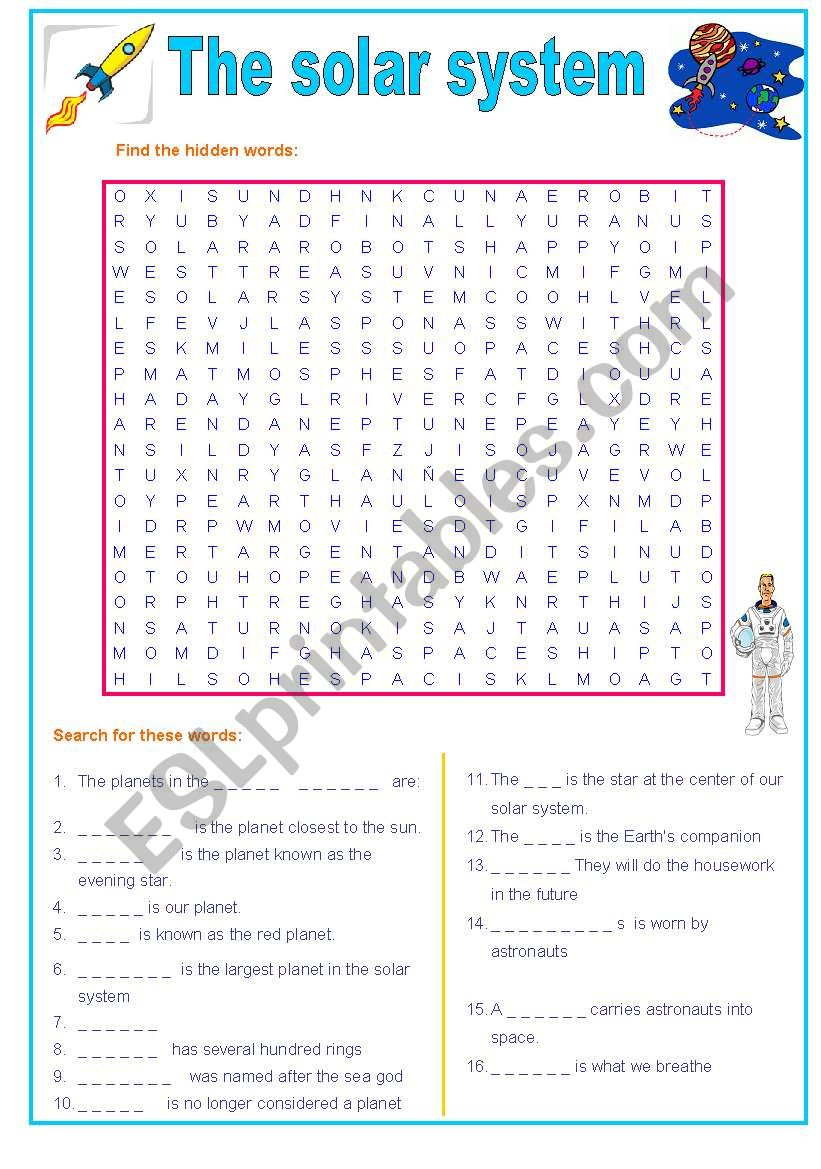 The solar system wordsearch : planets and more