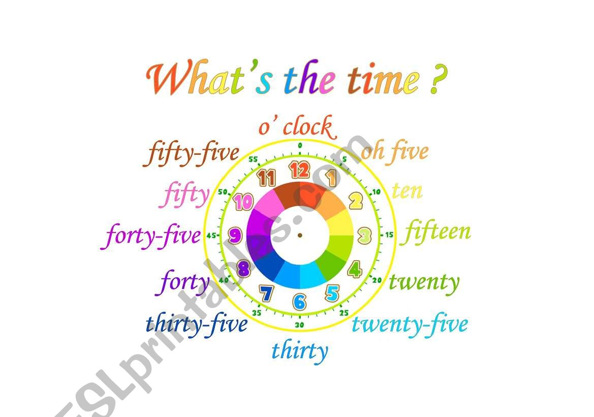 Telling the time poster 2 worksheet