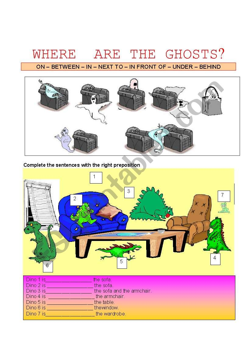 WHERE ARE THE GHOSTS? worksheet