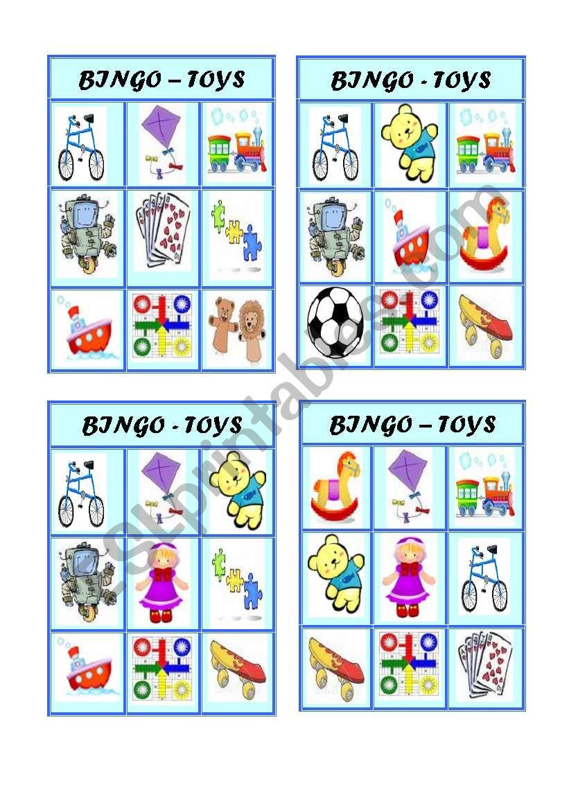 Bingo - Toys - Part 1 of 3 worksheet