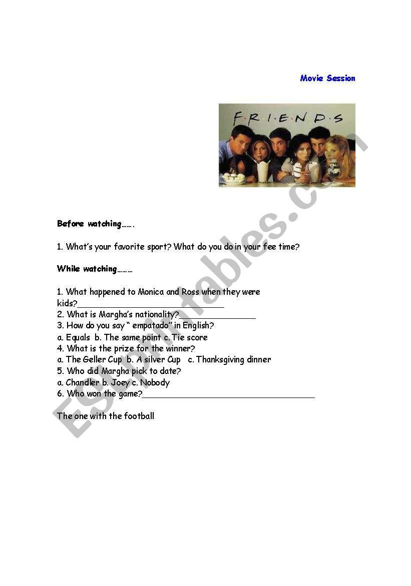 Friends - ESL worksheet by marilibal
