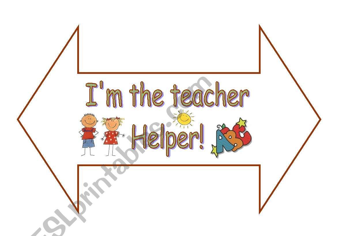 teacher helper - ESL worksheet by achadinha