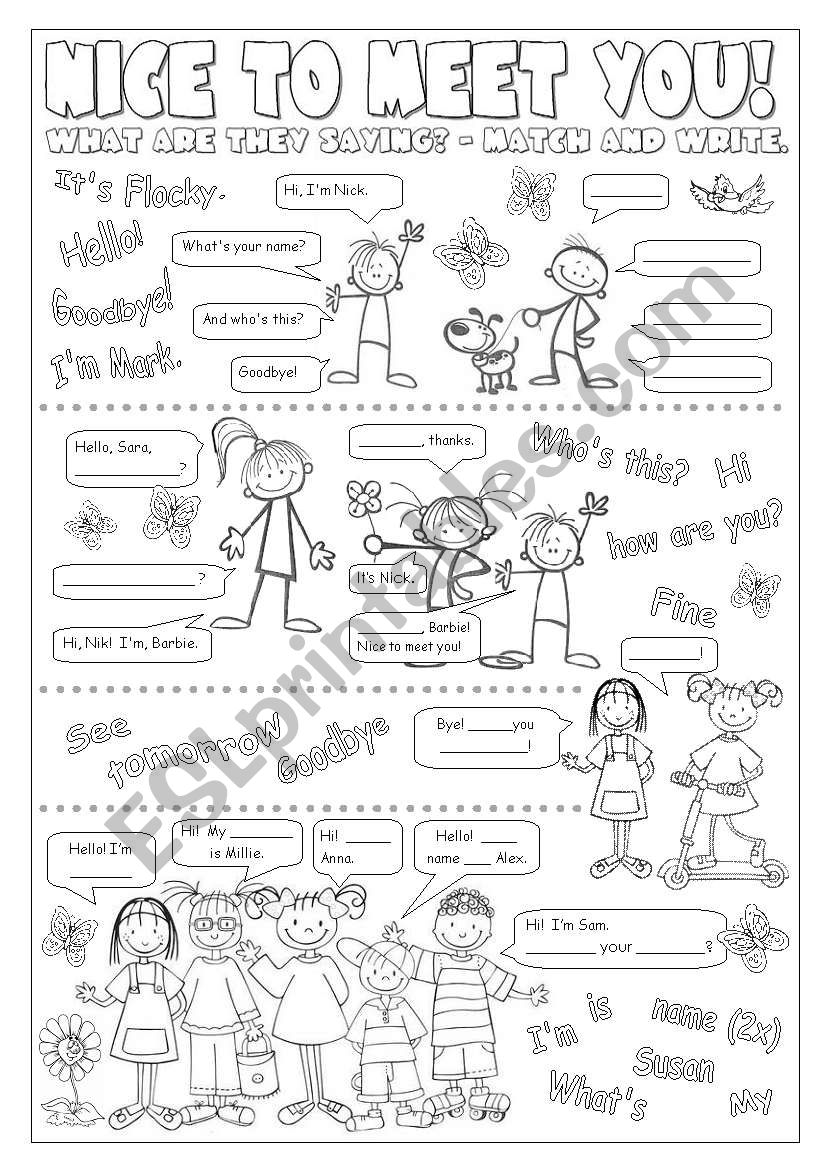 Greetings Esl Worksheet By Alenka