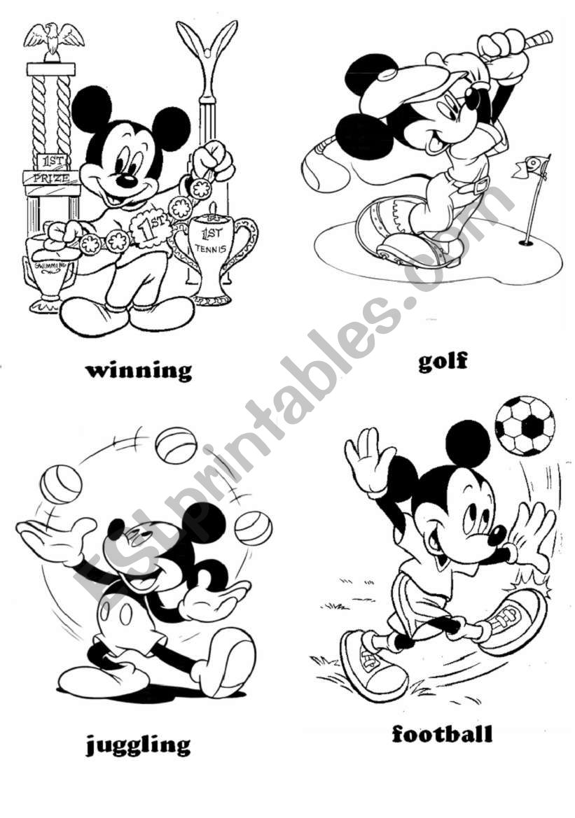 sports - Mickey Mouse (part 1)