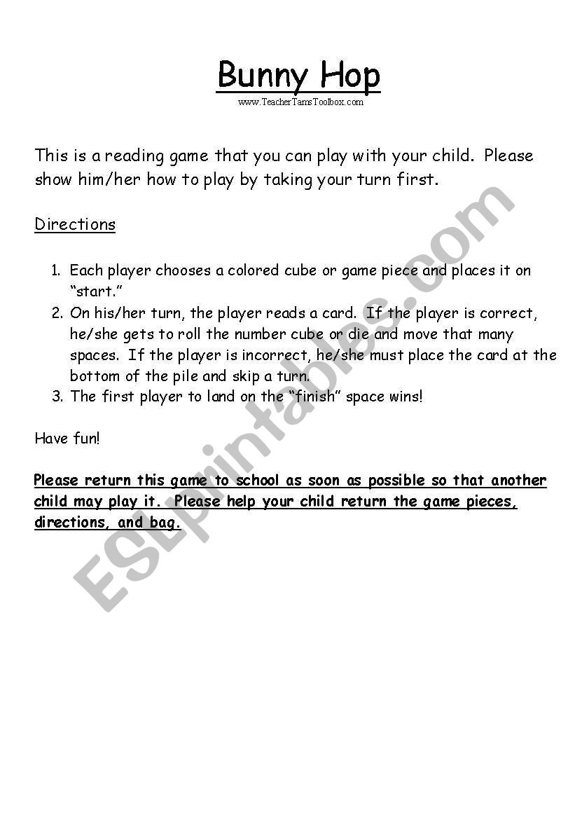 Reading Game For Preschool And Kindergarten Cvc Words Pages 3 6