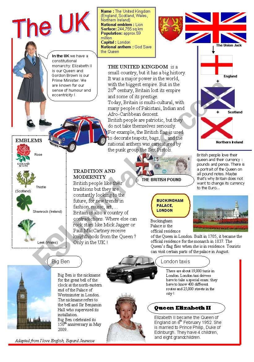 The UK worksheet