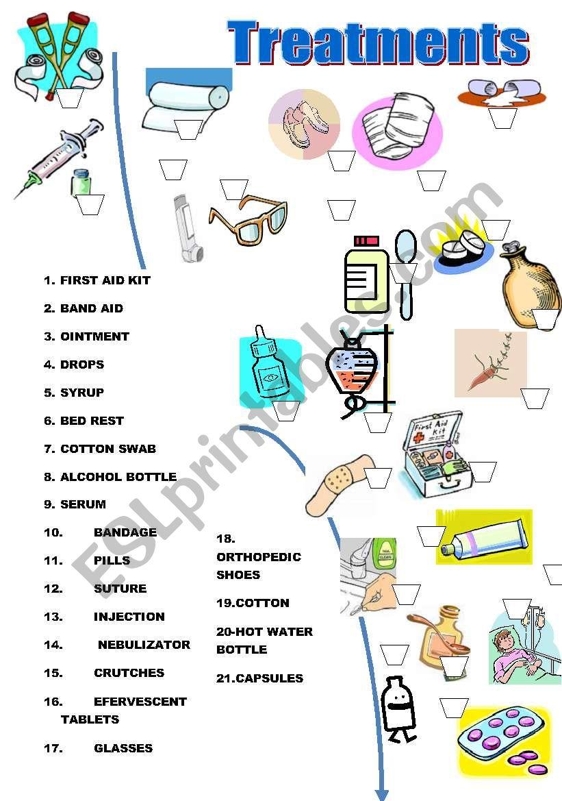 Treatments Match worksheet