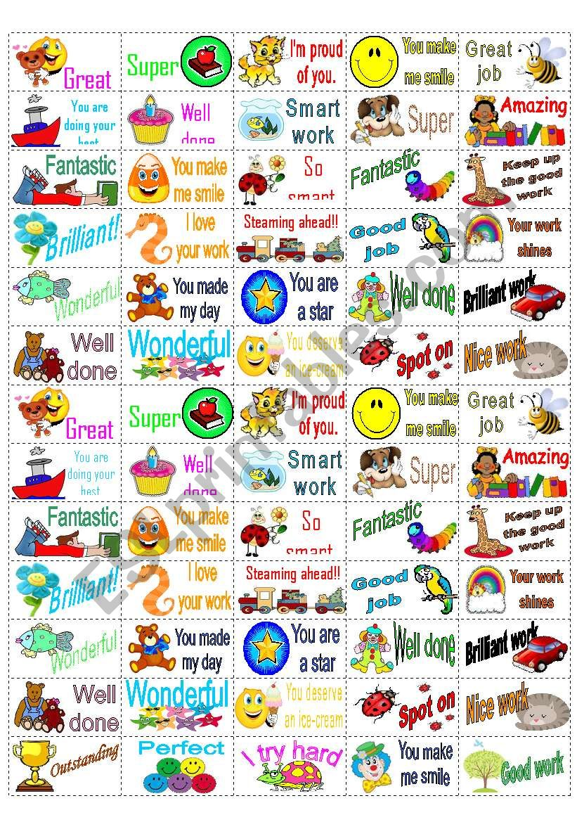 65 Reward Stickers  worksheet