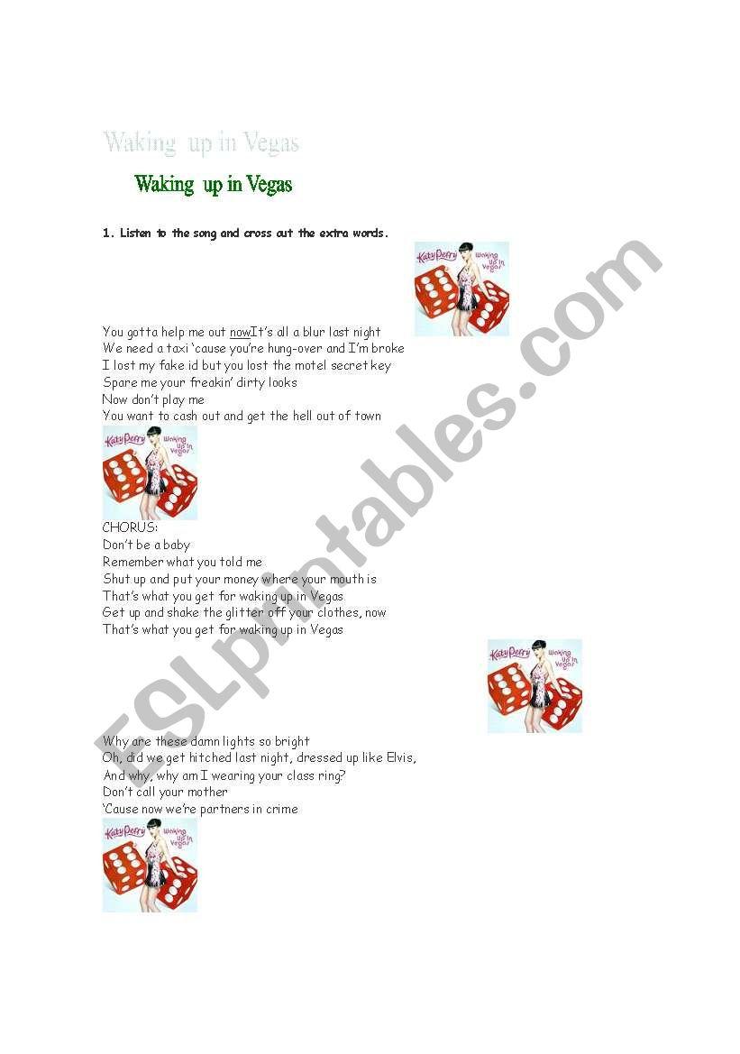English worksheets: Waking up in Vegas