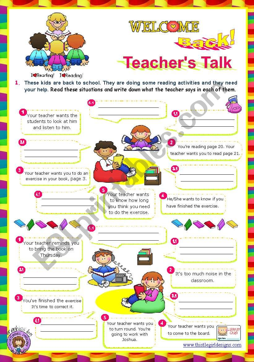 Back to School series  -  Teacher´s Talk  (1/2)
