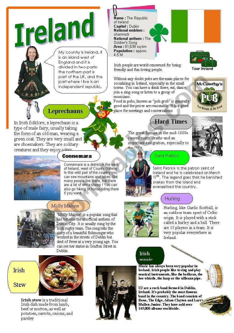 IRELAND worksheet