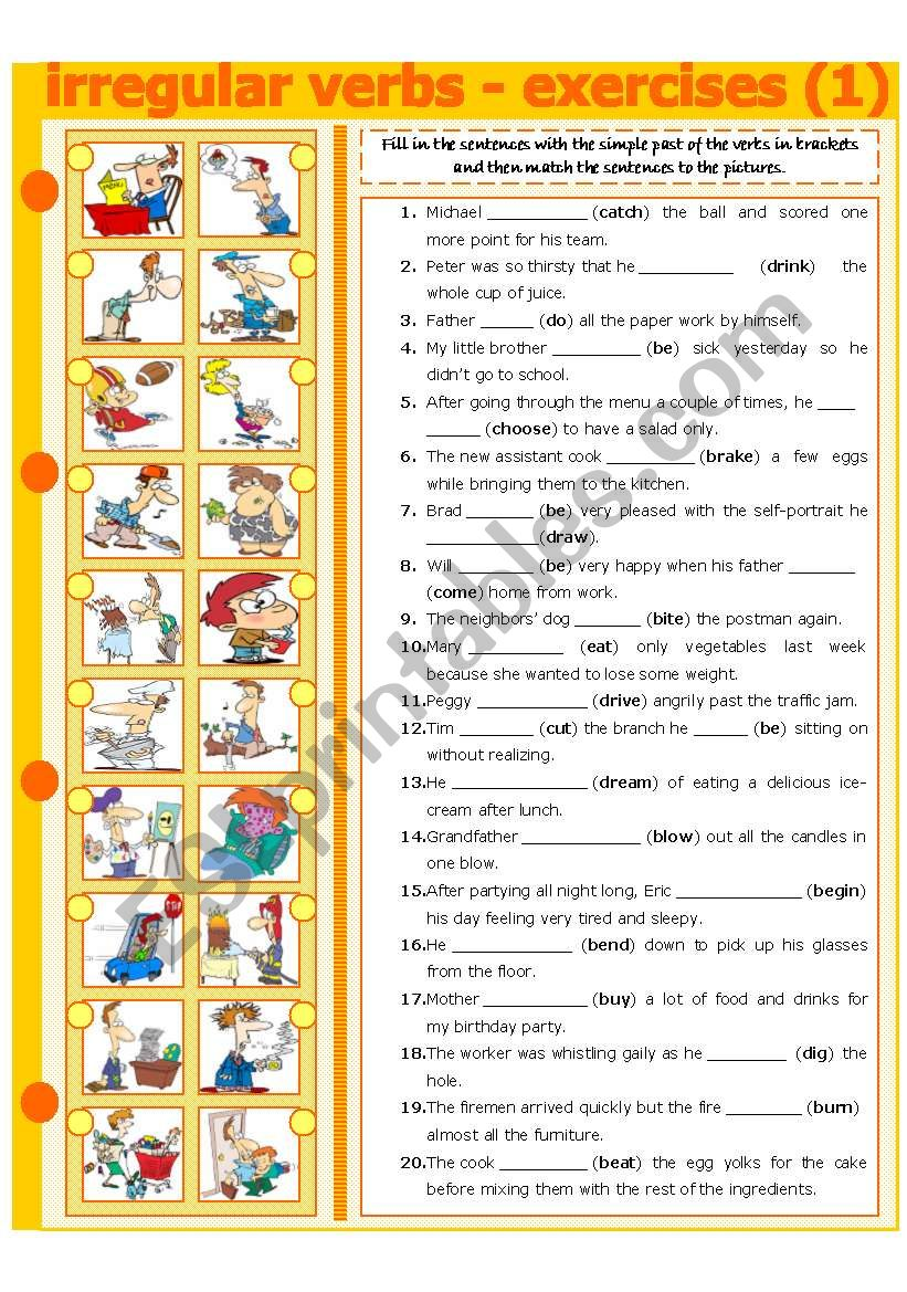 IRREGULAR VERBS - EXERCISE 1 worksheet