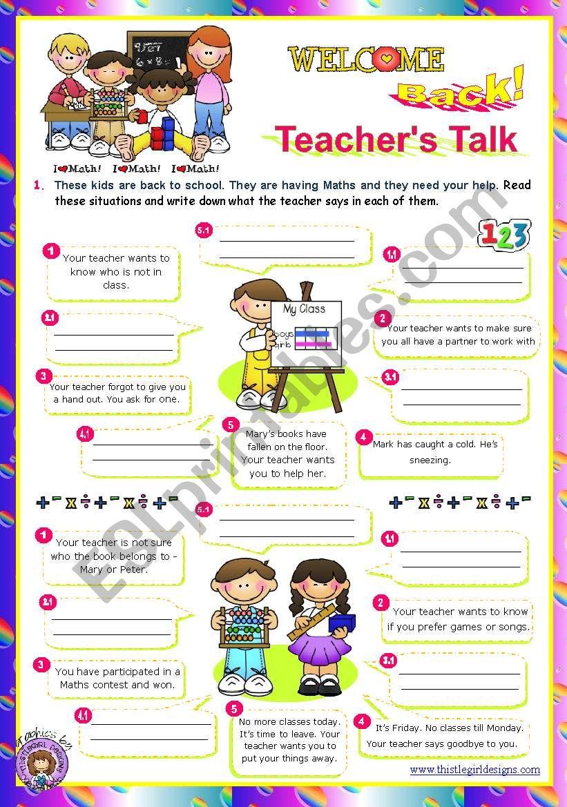 Back to School series  -  Teacher´s Talk  (2/2)