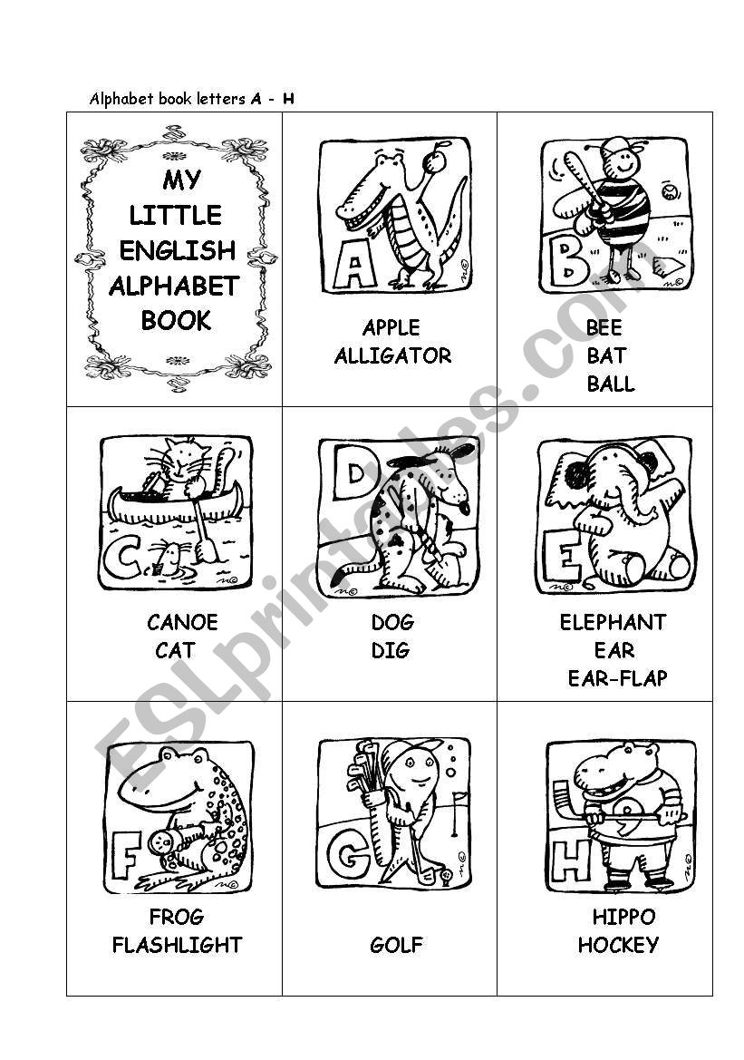My Little English Alphabet Book