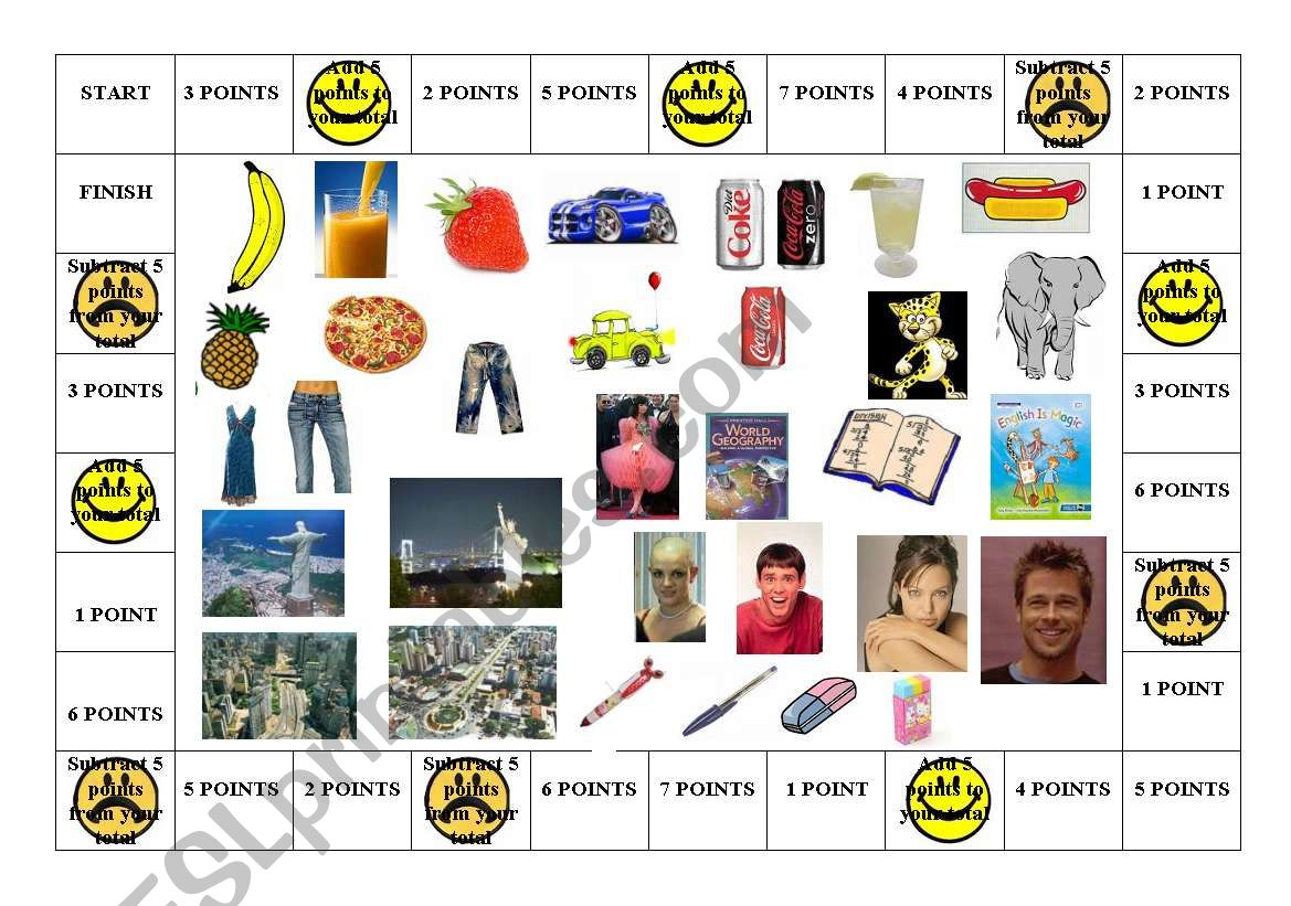 Comparatives Board Game Part I