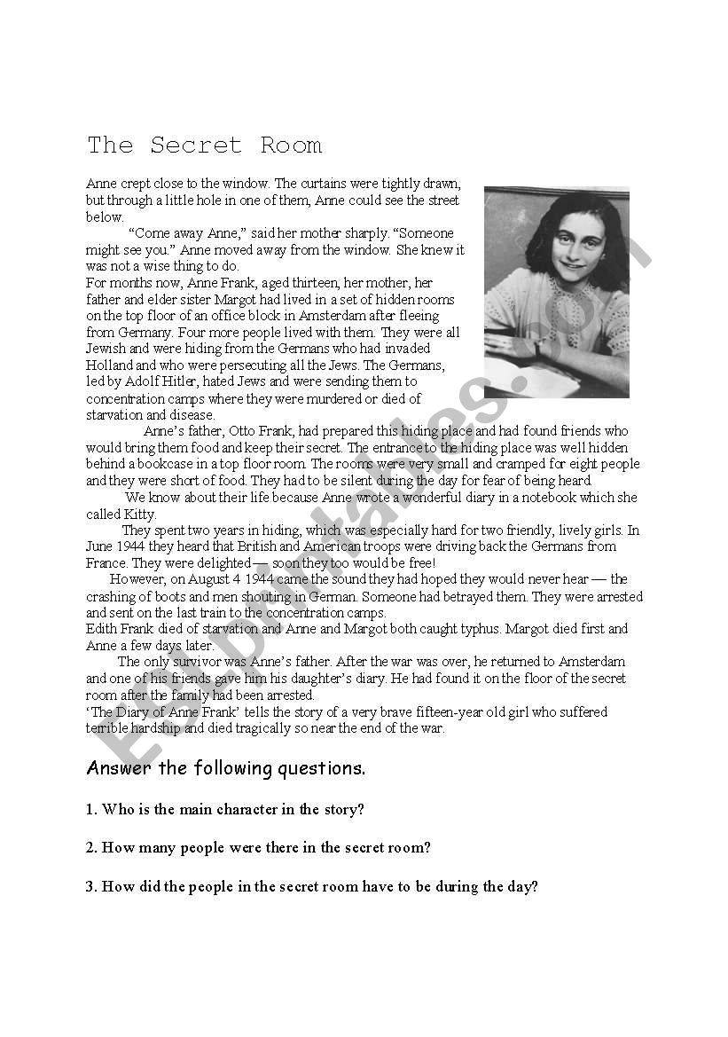 The diary of Anne Frank diary of hope