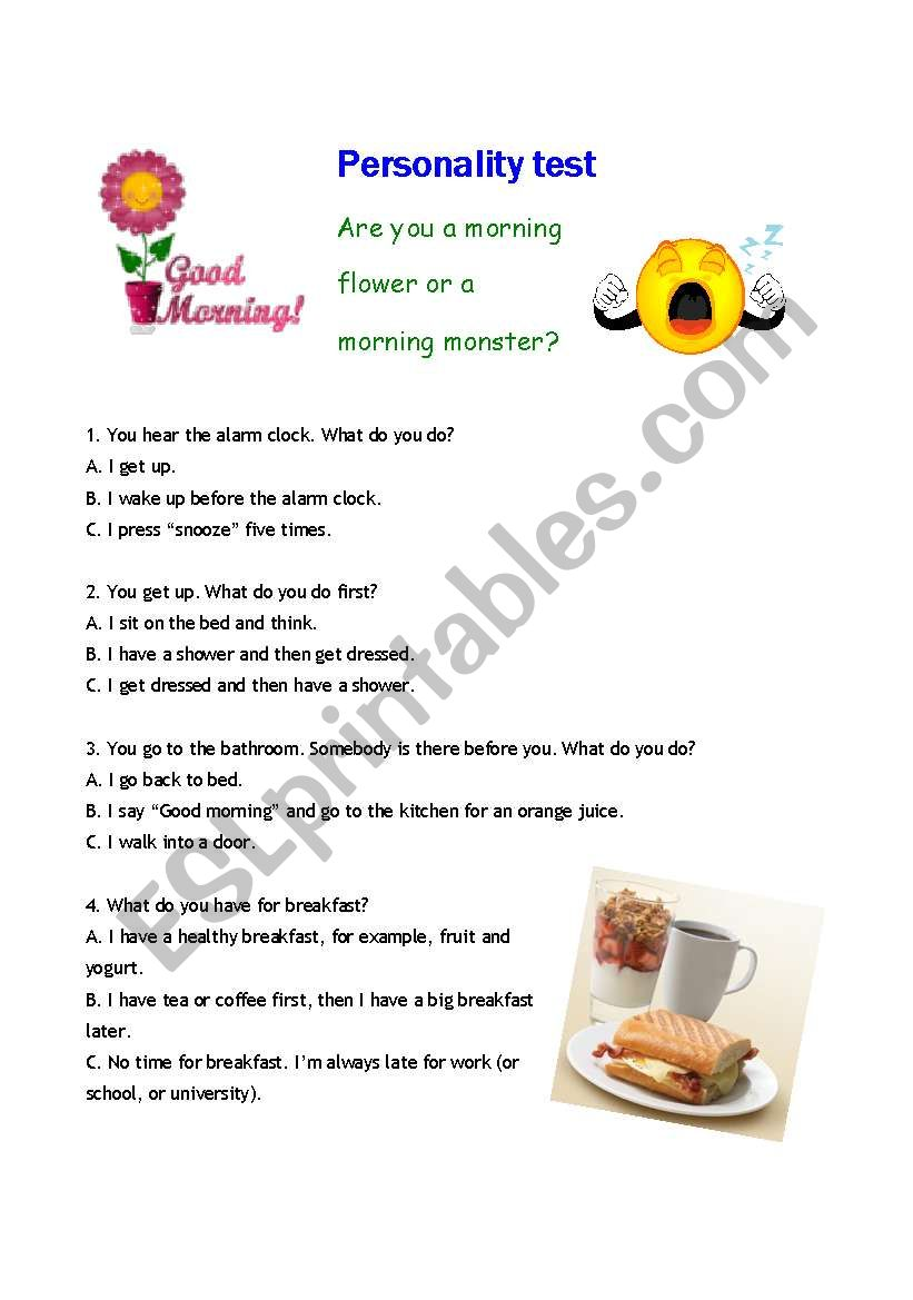 personality test are you a morning flower or a morning monster