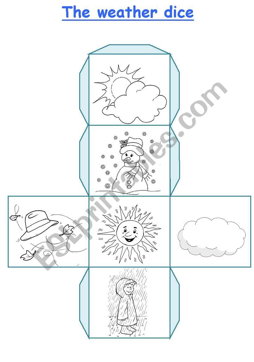 The weather dice worksheet