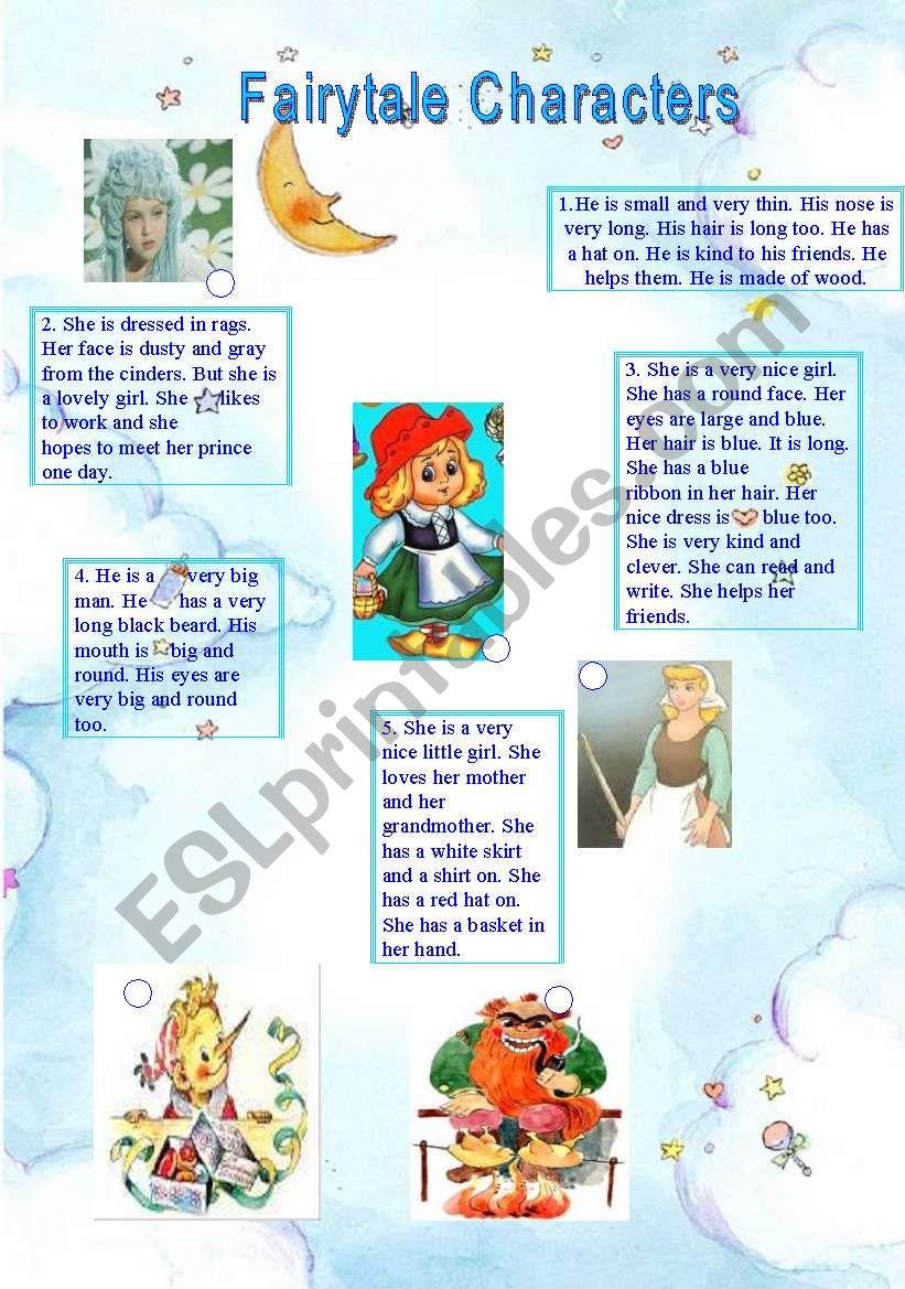 Fairytale Characters worksheet