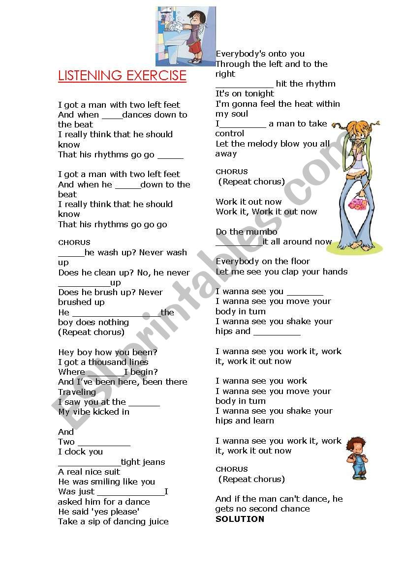 Simple Present Songthe Boy Does Nothing By Alexa Dixon Esl