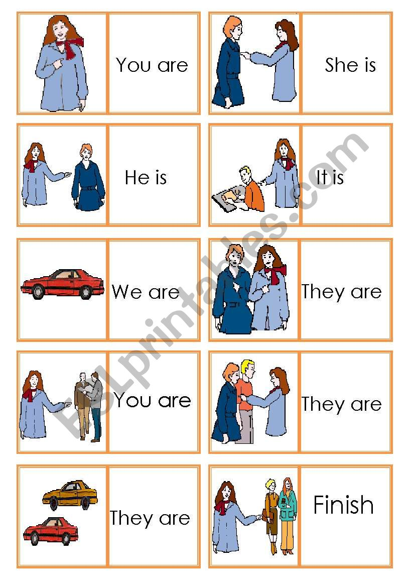 Dominoes Personal Pronouns worksheet