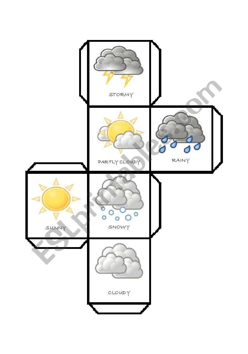 DICE - weather worksheet