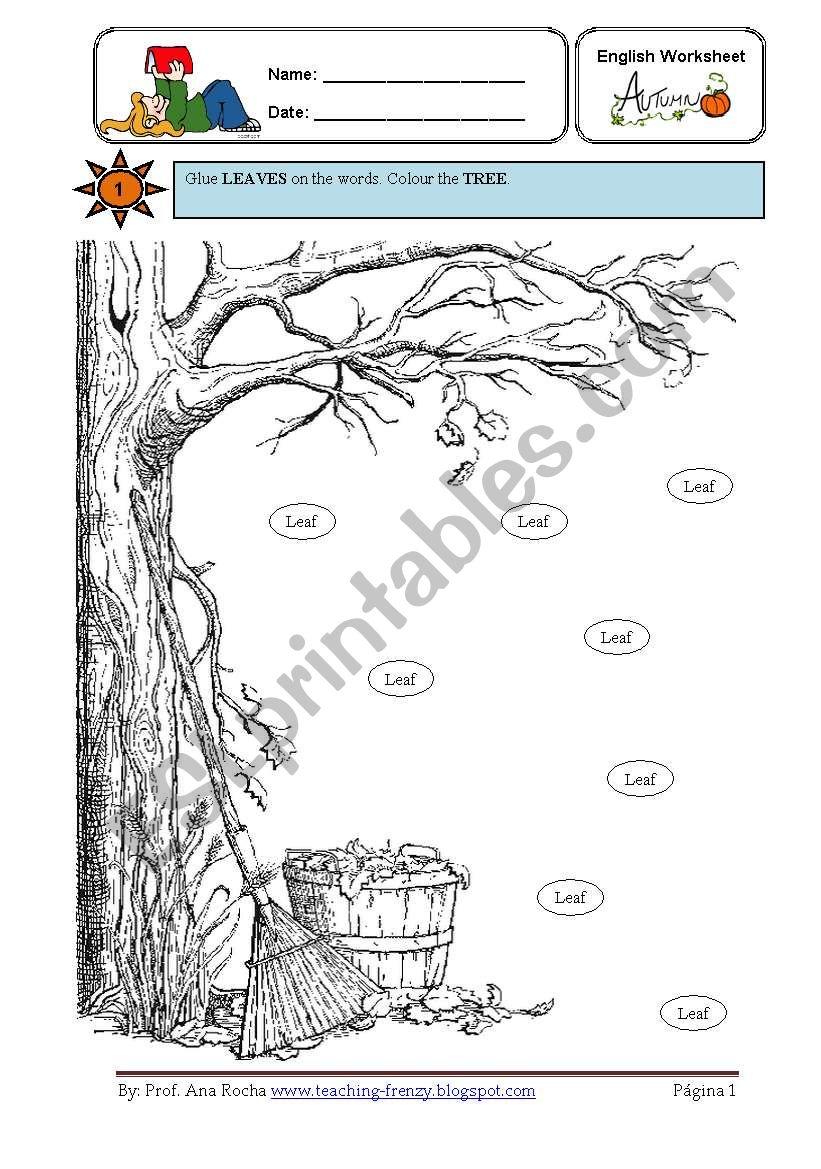 It´s Autumn worksheet