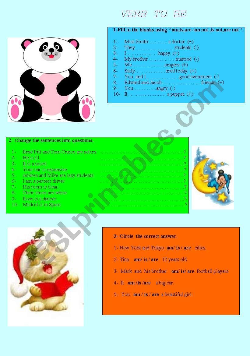 To be worksheet worksheet