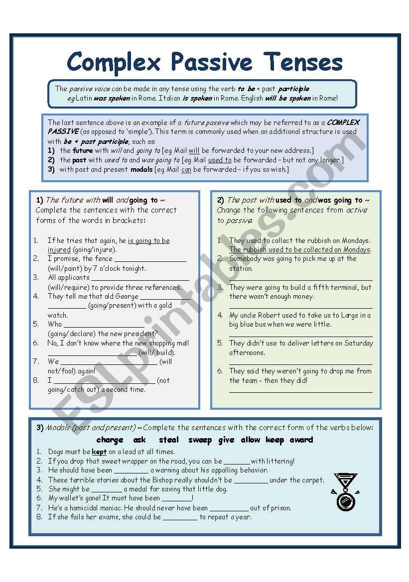 COMPLEX PASSIVES (3 pages - inc. B&W copy)