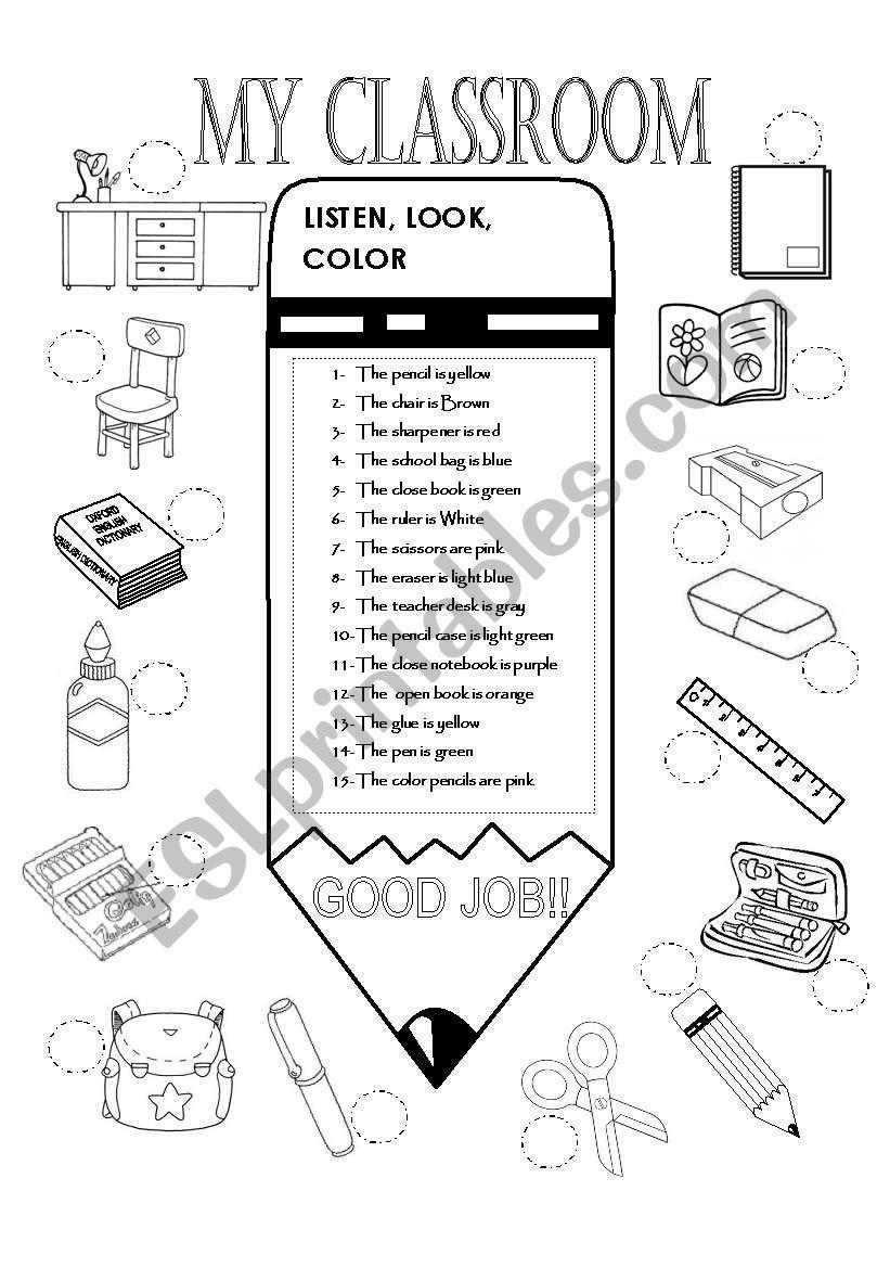 MY CLASSROOM worksheet