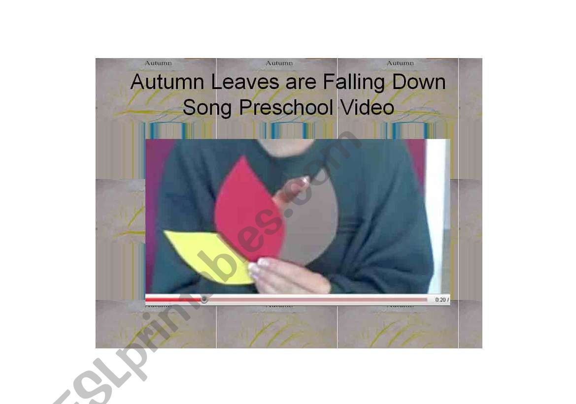 Autumn Leaves are Falling Down Song Preschool Video