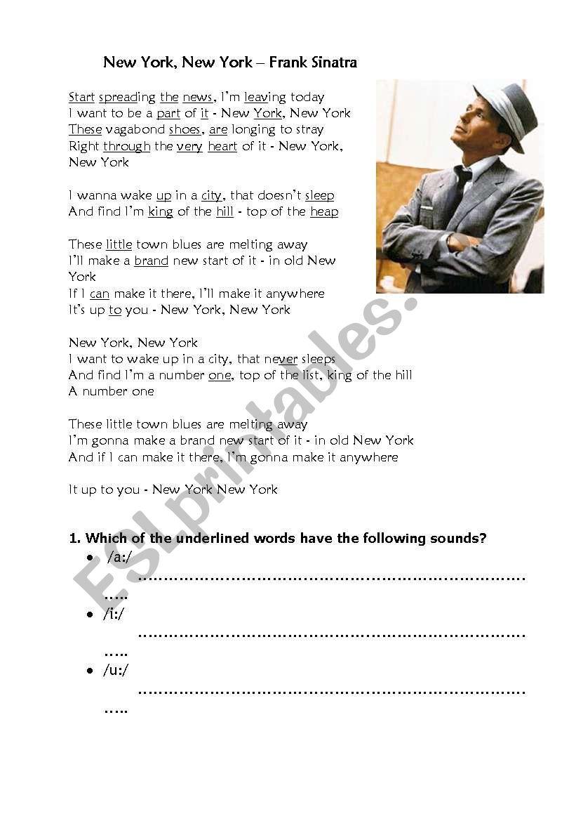 New York, New York Frank Sinatra Pronunciation+ Informal English/ Slang
