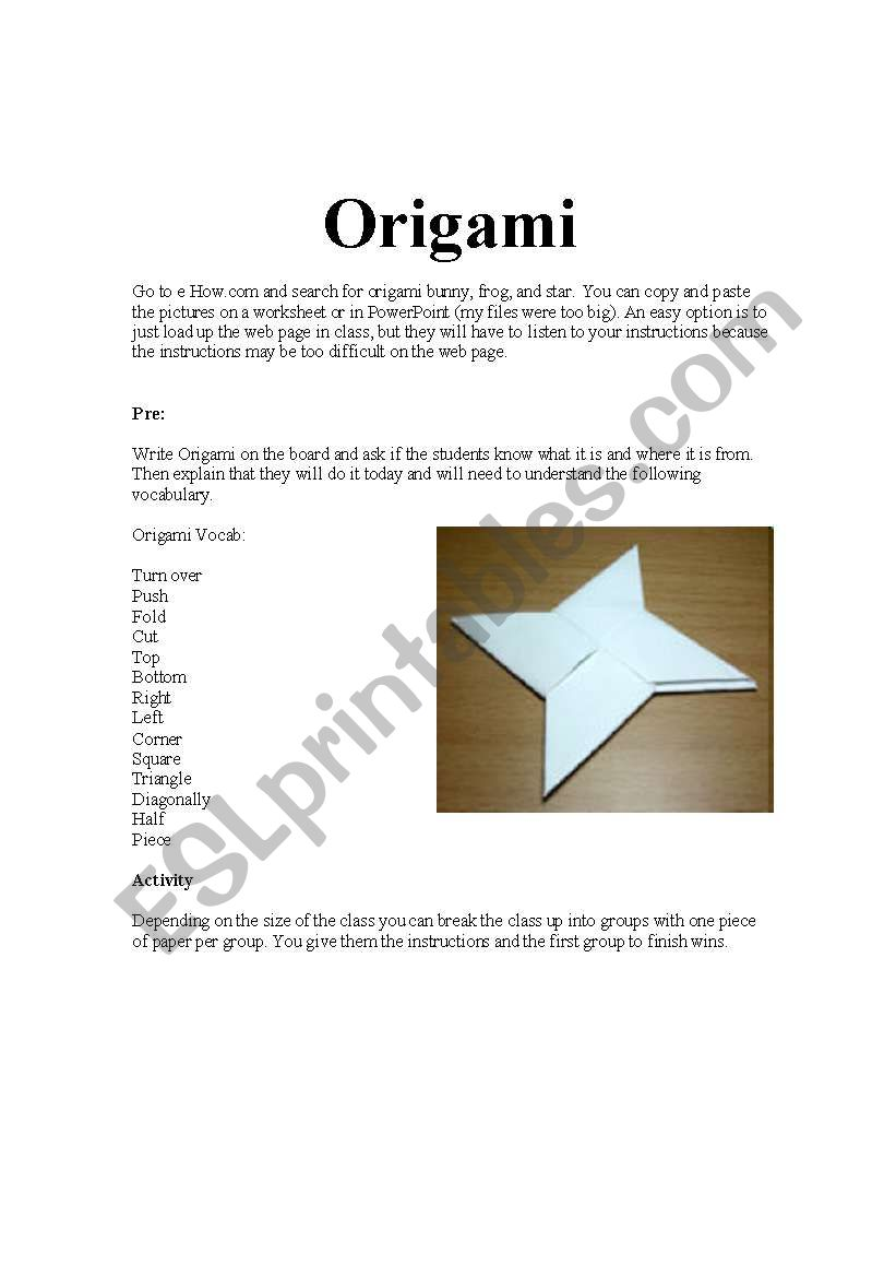 Origami Animals instructions | 1169x821