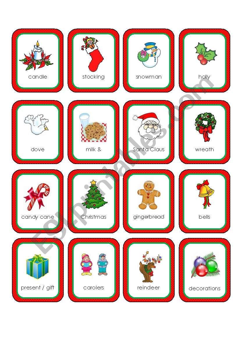 Christmas Memory Cards (16 cards)