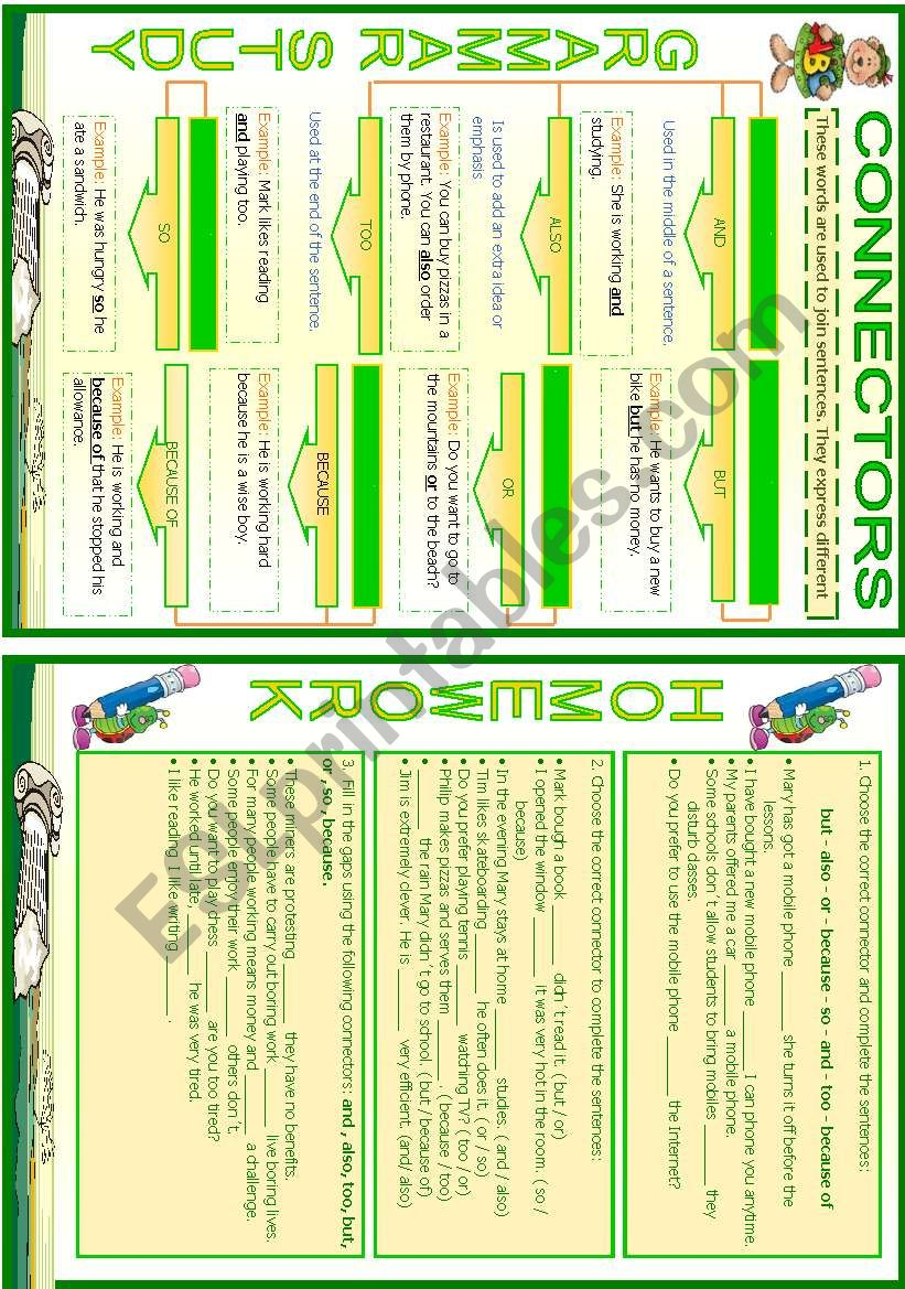 Connectors worksheet