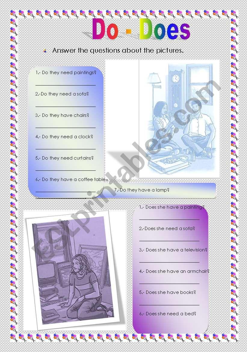 Do & Does worksheet