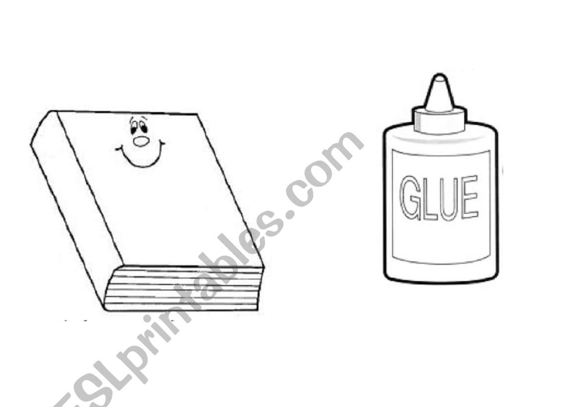 classroom objects- flashcards worksheet