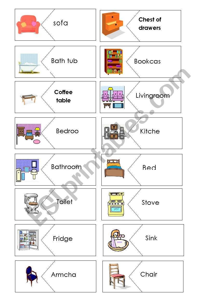 Puzzle Furniture worksheet