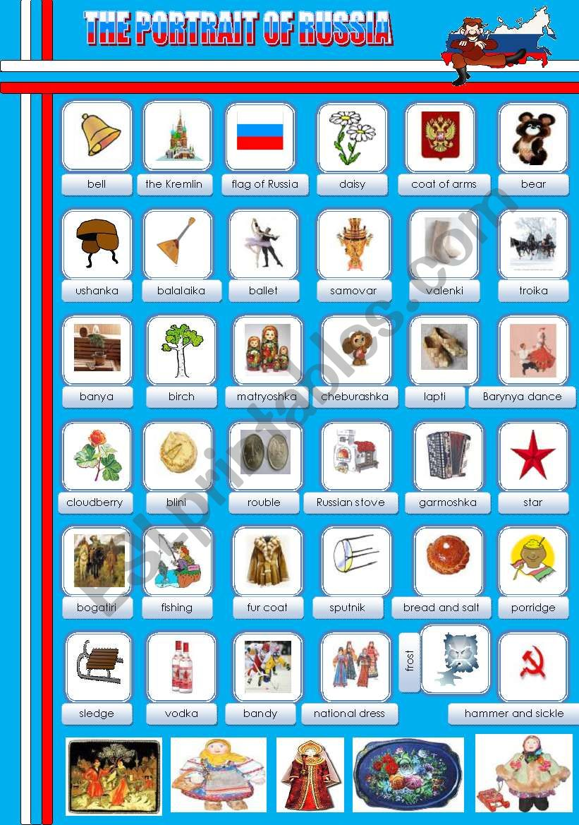 THE PORTRAIT OF RUSSIA ( pictionary)