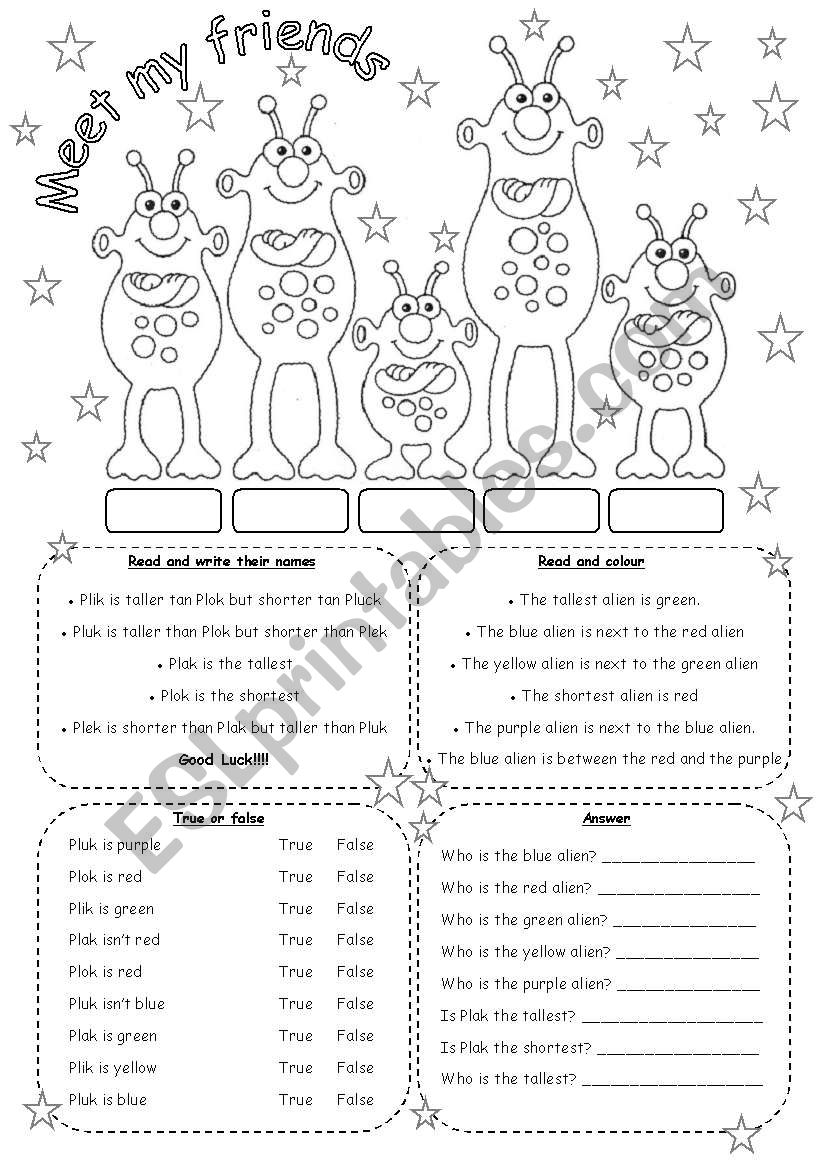 MEET MY FRIENDS (2) worksheet