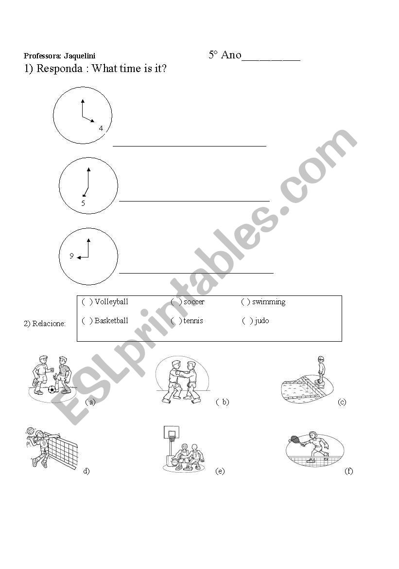 hours and numbers worksheet
