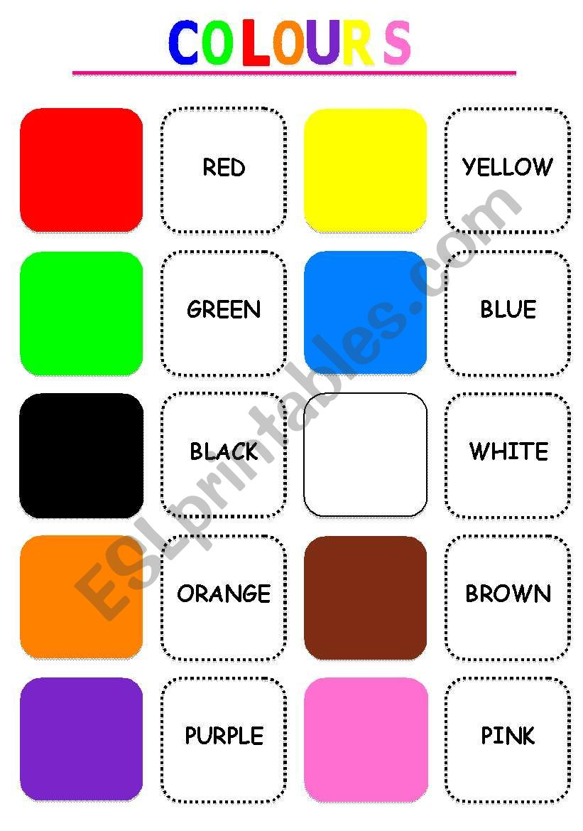 Colours memory game - ESL worksheet by suances